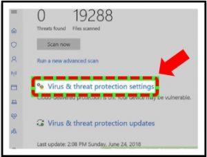 تشغيل windows defender في ويندوز 10