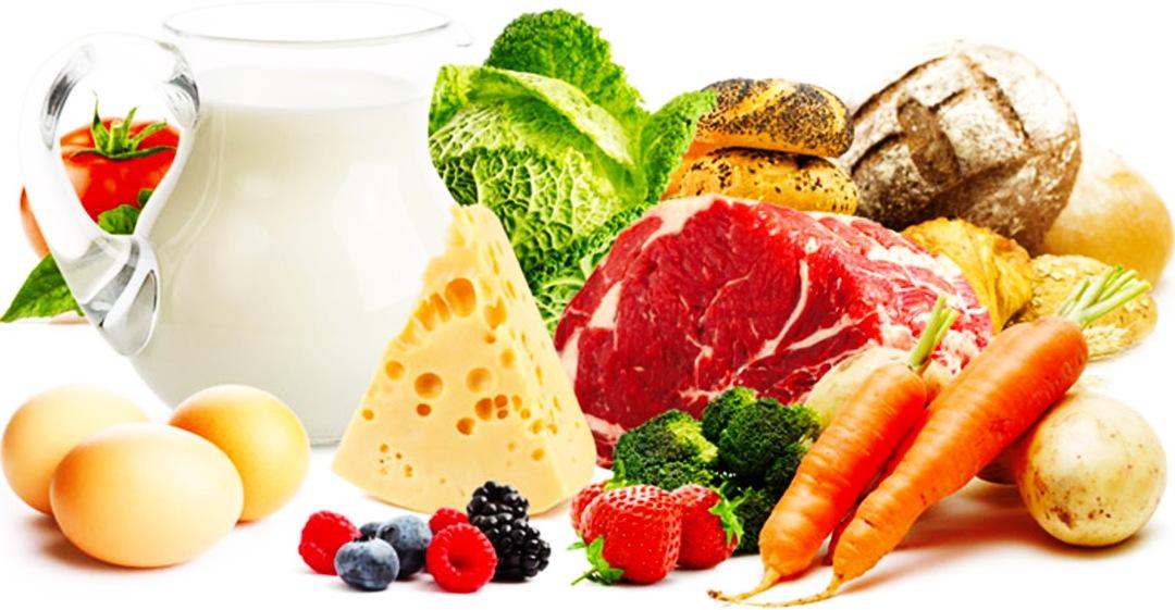 المجموعات الغذائية الستة